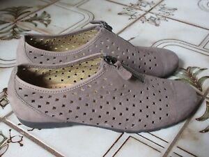 Gabor shoes women's size 6, suede upper, comfort sole, zip closure, never worn