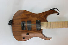 Custom Walnut 7 String R-Type Guitar Body and Neck- EMG Gotoh Hipshot Ready