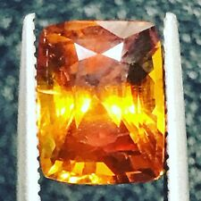 Natural Orange Sapphire Loose Gem Gemstone 3.44 Carats Genuine Corundum