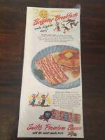 Vintage Original Print Ad 1948 Swift's Premium Bacon Vintage Art