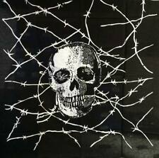 Bandana pañuelo negra cuadrada cabeza dibujo calavera - casual - motero