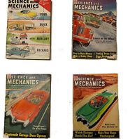 4x Science and Mechanics Magazine Vintage Bundle 8-50 10-51 12-51 and 6-54