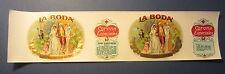 Original Old Vintage - La Boda - CIGAR Can LABEL - Bride & Groom