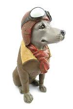 Flieger Hund Fliegerbrille Brille shabby Nostalgie Landhaus Skulptur Figur RETRO