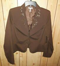 Sz 12 METRO 7 Brown Lined Blazer JACKET