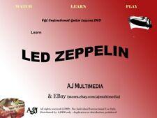 Custom Guitar Lessons, Learn Led Zeppelin - Dvd Video