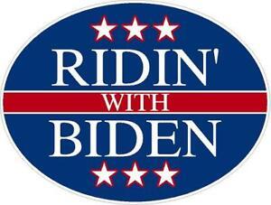 Ridin' with Biden 2020 President Reflective or Matte Vinyl Decal Sticker