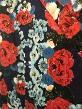 Sunny Girl Dress - Size 14 - Floral Print with Pleats - Great Condition