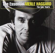 MERLE HAGGARD : ESSENTIAL MERLE HAGGARD: THE EPIC YEARS (CD) sealed