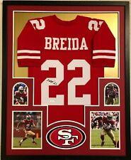 FRAMED SAN FRANCISCO 49ERS MATT BREIDA AUTOGRAPHED SIGNED JERSEY JSA COA