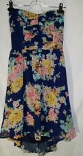 LOVE CULTURE SIZE LARGE TIE BACK FLORAL CHIFFON SLEEVELESS JUNIORS DRESS  NWT