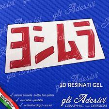 1 Adesivo Resinato Sticker 3D gel YOSHIMURA moto Carbon Look RED 100 x 53 mm