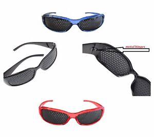Eyesight Improvement Vision Care Pinhole Glasses Exercise Eyewear Training Black
