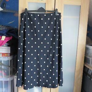 M&S Collection Navy/White Polka dot skirt size 18