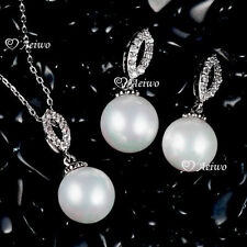 Pearl White Gold Filled Fashion Jewellery Sets