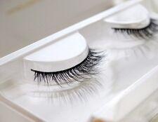 Natural Black long Fake Eyelashes Extensions 100%Real Mink False Eye Lashes 3DH