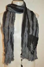 JOHN VARVATOS Star USA Man's MERINO Wool Scarf NEW Size 15in x 78