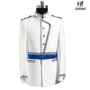 Renaissance Men Jacket Pant Full Set Halloween Party King Prince Cosplay Costume