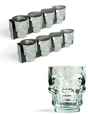Kikkerland cráneo de cristal conjunto de 8 vasos de chupito fiesta beber Barra de vidrio Tirador