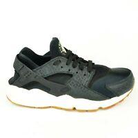Nike Air Huarache Run PRM Women's Size 8.5 Black Running Shoes 683818 011