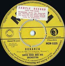David Rose & Orchestra ORIG OZ Promo 45 Bonaza EX '60 MGM 5335 Orchestral Pop