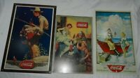 Lot of 3 Reproduction Metal Coca-Cola Coke Advertising Signs