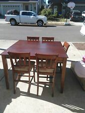 cherry counter height dining set