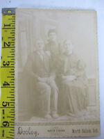 Antique 1800s Cabinet Card Photo SATIN Finish Portrait Dooley Nrth Salem Indiana
