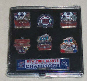 NFL New York Giants Super Bowl XLII Champions 6 Pin Set Limited Edition New