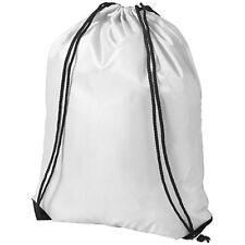 Sacca Premium Oriole Bullet Chiusura a coulisse Tracolla Zaino poliestere 210d Solido Bianco