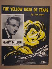 Tema de la rosa amarilla de TEXAS Gary Miller 1955