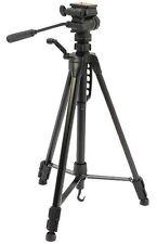 BLACK 1.58 m 1,6 kg PRO ALLUMINIO Treppiede per fotocamera, effetto fluido 3 modo panoramica / inclinazione testa