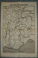 3/31/11 Historische Landkarte Süd Ost Frankreich v 1945
