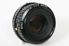 Pentax A SMC 50mm f1.7 Lens - manual focus