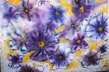 "Large Abstract WC by Robert  Fagg  ""Burst of Purple """