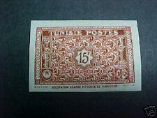 TUNISIA  SCOTT #198 LH IMPERF MOSQUE AT KAIROUAN