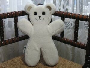 Ikea Sweden BEAR Unicef PS BRUM White Bendable Teddy Plush Rare