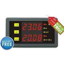 DC Programmable 0-90V 0-500A Voltage AMP Ah Power Combo Meter Battery Monitor