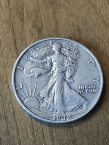 1942D Walking Liberty Half Dollar XF