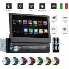 7'' 1Din Autoradio Bluetooth GPS Navigatore Android 6.0 Wifi RDS OBD DAB+ USB SD