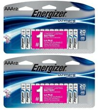 Energizer Ultimate Lithium Aaa -Set of (2) 12 ct L92Sbp Batteries Ex 2038 (24ct)