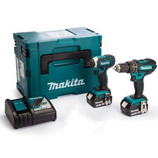 Makita DLX2131MJ 18V Twin Pack Combi + Impact with 2 x 4.0Ah Batteries & Charger