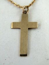 9ct. GOLD NECKCHAIN with CROSS PENDANT - Excellent condition