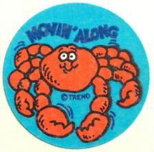 Vintage 80s Matte Trend Scratch & Sniff Sticker - Crab - Mint!!