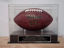 Football Case With A 2010 Auburn Tigers National Champions Engraved Nameplate