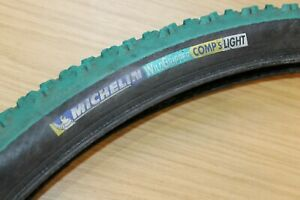 """Michelin Wildgripper Comp S Light 26"""" 2.0 Bike Tyre Tire Retro Green Rare 26"""