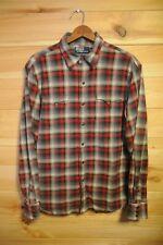 Ralph Lauren Polo Classic Western Shirt Large Plaid Distressed Worn
