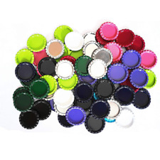 IGOGO 100 PCS Mixed Colors Bottle Caps Craft Stickers for Hair Bows Pendants 1
