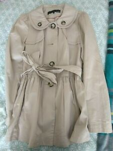 Ladies NEXT SHORT Belted Trench Coat Mac SIZE 12 EXCELLENT CONDITION