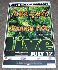 Fiona Apple / Damien Rice - 2006 Concert Tour Poster